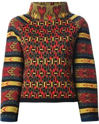 Christian Lacroix Patterned Brocade Sweater - Lyst