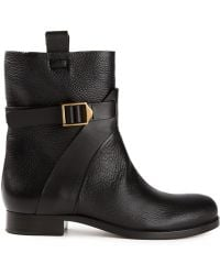 Chloé Black Midcalf Boots - Lyst