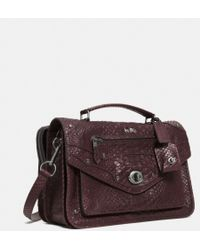 Coach Rhyder Messenger in Python Embossed Leather - Lyst