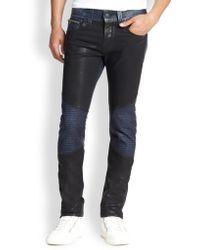 True Religion Rocco Skinny Moto Jeans - Lyst