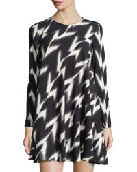 Rachel Zoe Printed Round-neck Dress - Lyst