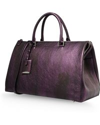 Jil Sander Large Leather Bag - Lyst