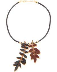 Lela Rose - Long Leaf Necklace - Lyst