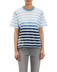 NSF Clothing Distressed Fade-Stripe T-Shirt - Lyst