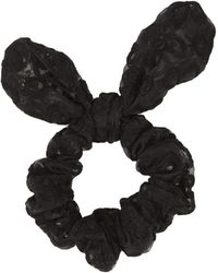 Topshop Womens Sheer Embroidered Scrunchie - Black - Lyst
