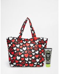 Anna Sui | Asos Exclusive Heart Print Makeup Bag With Handcream | Lyst