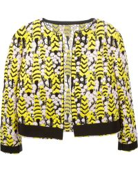 Giambattista Valli Embroidered Cropped Jacket multicolor - Lyst
