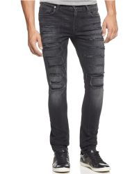 Guess - Distressed Skinny Jeans - Lyst