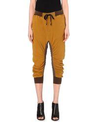 Haider Ackermann Gathered Cotton-Jersey Jogging Bottoms - For Women brown - Lyst