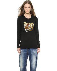 Markus Lupfer Tiger Cub Sequin Natalie Sweater - Black - Lyst
