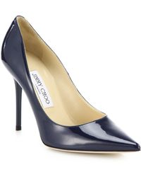 Jimmy Choo Abel Patent Leather Pumps blue - Lyst