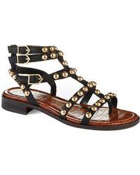 Sam Edelman Eavan Studded Gladiator Sandals - Lyst