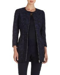 Nina Ricci Tweed Fitted Jacket - Lyst
