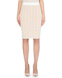 Alexander McQueen Embossed Pencil Skirt - For Women - Lyst