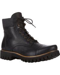 Barneys New York Burnished Cap-toe Boots - Lyst