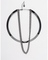 Lipsy - Torque Necklace - Lyst