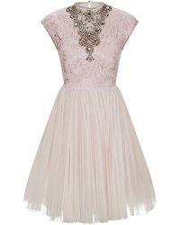 Ted Baker Jewel Embellished Dress - Lyst