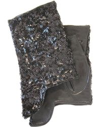 Thomasine Gloves - Dublin Mitaine Short Sequins Black - Lyst