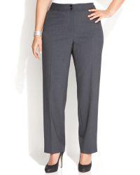 Calvin Klein Plus Size Wide-Leg Dress Pants - Lyst