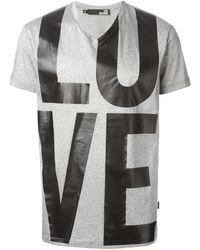 Love Moschino Love Print T-Shirt - Lyst