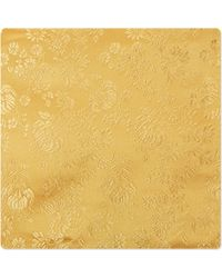 Duchamp Zinnias Floral Pocket Square Yellow - Lyst