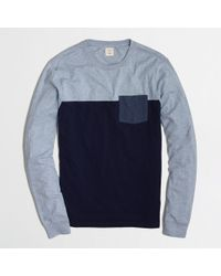 J.Crew Factory Pieced Long-sleeve Tee - Lyst