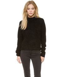 Acne Studios Loyal Mixed Knit Sweater  - Lyst
