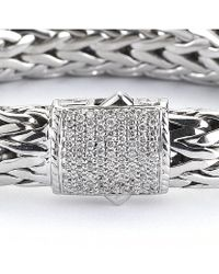 John Hardy Pre-owned Rope Bracelet with Pave Diamond Clasp - Lyst