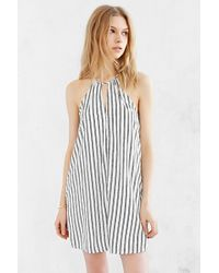 Cooperative - High-Neck Striped Shift Dress - Lyst