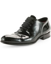 Tom Ford Charles Patent Lacebow Shoes - Lyst