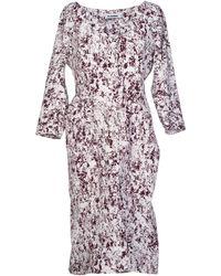 Jil Sander Knee-Length Dress purple - Lyst