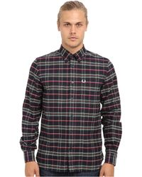Fred Perry House Tartan Long Sleeve Shirt - Lyst
