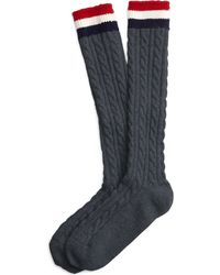 Brooks Brothers Charcoal Cable Knit Socks - Lyst