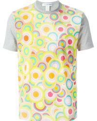 Comme des Garçons Circle Print T-Shirt - Lyst