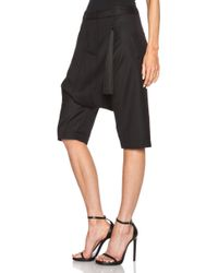 Adam Lippes Cropped Fez Wool Shorts With Tassel - Lyst