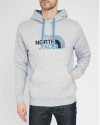 The North Face Mottled-Grey Drew Hooded Sweatshirt gray - Lyst