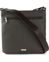 Ferragamo Zipped Messenger Bag - Lyst