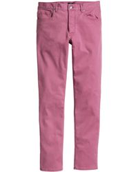 H&M Twill Trousers Slim Fit - Lyst