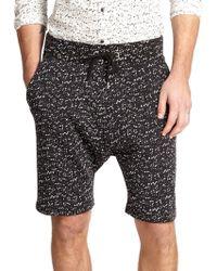 The Kooples Sport - Speckle Print Fleece Knit Shorts - Lyst