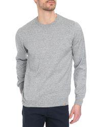 Carhartt Toss Grey Mottled Sweater - Lyst