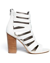 Sam Edelman Yazmine Leather Caged Sandals - Lyst