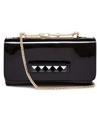 Valentino Rockstud Patent Leather Clutch - Lyst