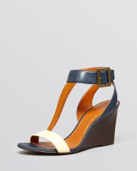 Enzo Angiolini | Open Toe Wedge Sandals Vlade | Lyst