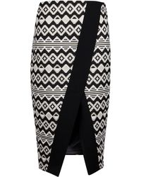 Ted Baker - Therisa Origami Jacquard Skirt - Lyst