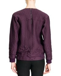 Jil Sander Quilted Techfabric Top - Lyst