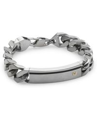 Lotus Diamond 14k Yellow Gold Stainless Steel  Titanium Bracelet - Lyst