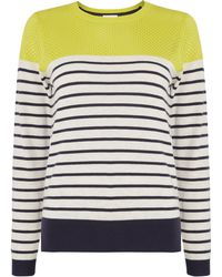 Linea Weekend Stripe Crew Neck Jumper - Lyst
