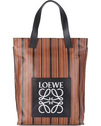 Loewe Leather Shopper Bag - For Women - Lyst