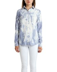 Rag & Bone The Trail Shirt blue - Lyst
