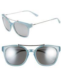Tory Burch 'Serif' 51Mm Cat Eye Sunglasses - Light Silver - Lyst